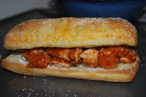 Ciabatta Chicken Carb Overload Sandwich