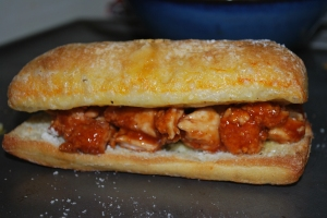 Ciabatta Chicken Carb Overload Sandwiches